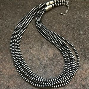 Jewelry - S.S.4mm Navajo Pearls Multi Strand Bead Necklace.